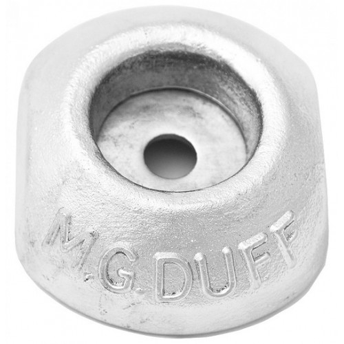 MG Duff 1KG zinc bolt on disc anode - Salt water use