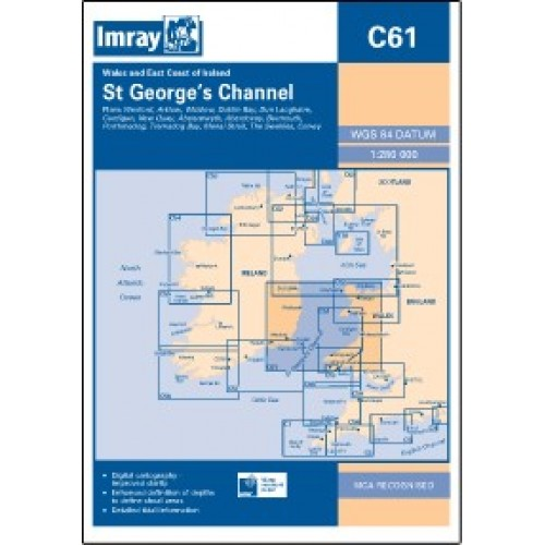Imray Chart: C61 St George's Channel - Wales to the East Cost of Ireland