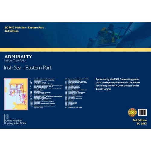 SC5613 Irish Sea - Eastern Part Nautical Chart Folio [3rd Edition]