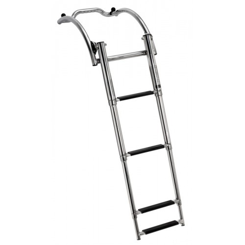 Quick-release boarding ladder for RIB - 4 Steps